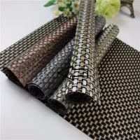 Купить Сеты для сервировки стола крупное плетение 45х30см серебро/черный 60-02