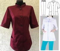 Купить Костюм для обслуживающего персонала ткань саржа х/б 20% пэ 80%,пл. 205г/м мод.23