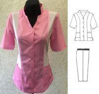 Купить Костюм для обслуживающего персонала ткань саржа х/б 20% пэ 80%,пл. 205г/м мод.33/1