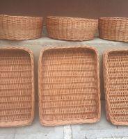 Купить Лоток плетеный из лозы с плетеным дном 50*40*h-10см