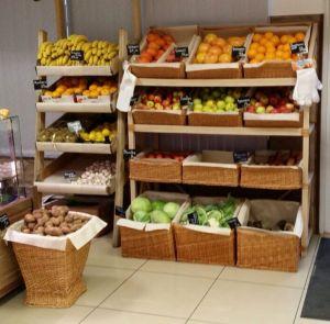 Купить Стеллаж овощной с корзинами из лозы