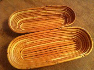 Купить Форма для расстойки хлеба овальная из лозы ~0,8кг L-320хB-120*h-70мм