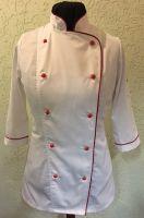 Купить Китель повара женский двубортный, ткань 35%х/б*65%пэ пл. 190г/м2
