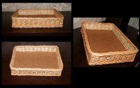 Купить Лоток плетеный из лозы на фанерном дне 60х30см h-10см