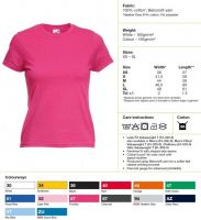Купить Футболка женская Ladies Valueweight T 61-372-0