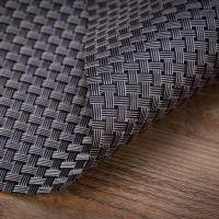 Купить сеты для сервировки стола крупное плетение 45х30см серебро/черный 60-02 недорого.