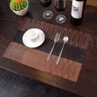 Купить Сеты для сервировки стола 45*30см коричнево-черная полоса 016-39