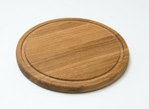Купить Доска деревянная для подачи пиццы d-300х22мм дуб