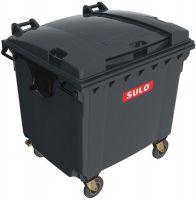 Купить Контейнер для ТБО пластиковый с плоской крышкой 1100л серый SULO Германия