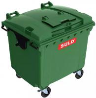 Купить Контейнер для ТБО 1100л пластиковый с опцией крышка в крышке SULO Германия