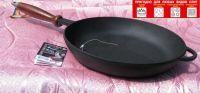 Купить сковорода чугунная с деревянной ручкой d280x60 мм 280060 недорого.