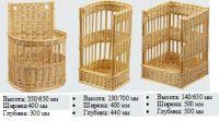 Купить Багетницы плетеные из лозы 400х300*h-350/650мм