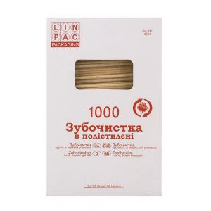 Купить Зубочистки 65мм в целлофане 1000 шт/уп