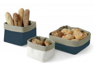 Купить Хлебница тканевая 150x150*h-150мм хлопок синий, бежевый Hendi 429112
