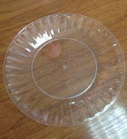 Купить Тарелка стеклоподобная d-205мм цвет: прозрачный, белый, желтый, синий, красный 10шт/уп
