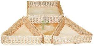 Купить Лоток угловой плетеный из лозы 60х60-h-40см