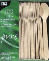 Купить ложка деревянная кофейная 11см 100 шт papstar 10085 недорого.