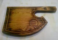 """Купить Доска деревянная для подачи стейка """"Топор"""" 400х250мм дуб"""
