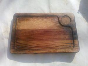 Купить Доска деревянная для подачи блюд с обжигом 200х300*20мм дуб