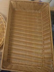 Купить Корзина для выкладки выпечки 600х400*h-100мм с металлическим каркасом внутри, св-коричневая