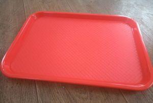 Купить Поднос пластиковый прямоугольный 410х300мм красно-коричневый, коричневый