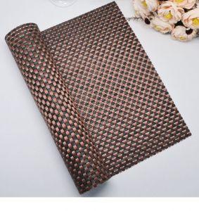 Купить Сеты для сервировки стола крупное плетение 45х30см коричнево/черный 60-01
