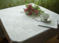 Купить Скатерть белая 120х140см квадраты 55%хб/45%пэ пл.230г/м2