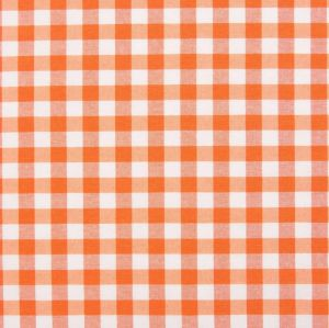 Купить Ткань клетка оранжевая шир.280см пл.150гр 50хб/50пэ Испания