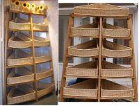 Купить стеллаж угловой из лозы и дерева недорого.