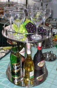 Купить Подстака фуршетная для стаканов и бутылок на 2 диска d-435*h-465мм №6