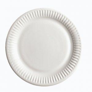 Купить Тарелка бумажная белая d-23см 100шт/уп