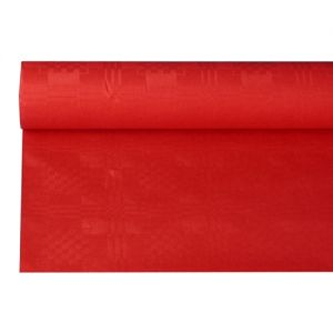 Купить Скатерть бумажная с тиснением 8м x 1.2м красная PapStar 18598
