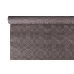 Купить Скатерть бумажная с тиснением 6м x 1.2м серый PapStar 85479