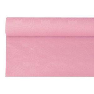 Купить Скатерть бумажная с тиснением 6м x 1.20м розовая PapStar 87638