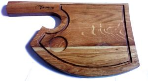 """Купить Доска деревянная для подачи стейка """"Топор"""" 350х220мм, дуб"""