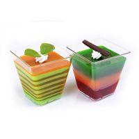 Купить стакан для десерта квадратный 65мл 50x50*h-45мм 420шт/уп украина недорого.