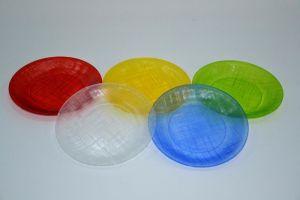 Купить Тарелка d-200мм PS цвет прозрачный, коричневый,белый, желтый, оранжевый, синий, красный, зеленый 120шт/ящ
