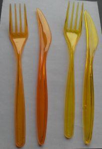 Купить Вилка стеклоподобная 180мм прозрачная, белая, желтая, оранжевая, синяя, красная, зеленая 2000шт/уп