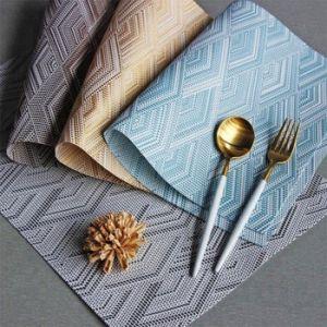 Купить Коврик для сервировки стола 30х45см голубой, серый,золотой,кофейный 194-46