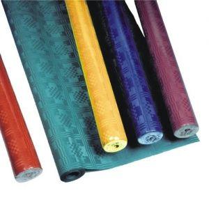 Купить Скатерть 8м x 1.2м красный, бордовый, темно-синий, темно-зеленый, золотисто-желтый PapStar 18592