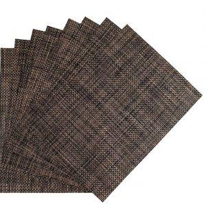 Купить Коврик для сервировки стола PVC 45х30см коричнево-черный 164-02