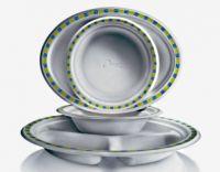 Купить тарелка бумажная овальная 26x19см chinet мозаика 50 шт/уп недорого.