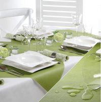 Купить скатерть бумажная под ткань 20м x 1.18м оливковый papstar 85775 недорого.