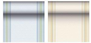 Купить Скатерть-дорожка Тет-А-Тет под ткань 40см*24 м (20штук*1,2 м) голубая, желтая PapStar 87747