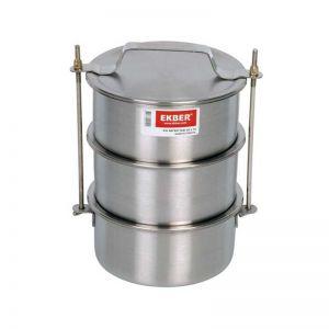 Купить Контейнеры для транспортировки пищи (крышка без уплотнителя) 3 шт х 0,9л 14х6см